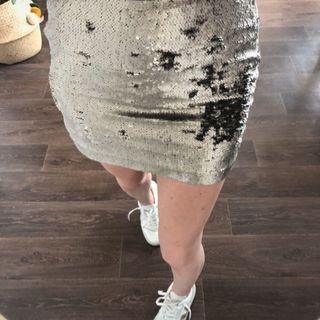 Minifalda lentejuelas zara