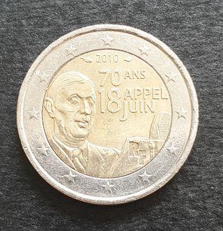 Dos euros conmemorativos de Francia 2010