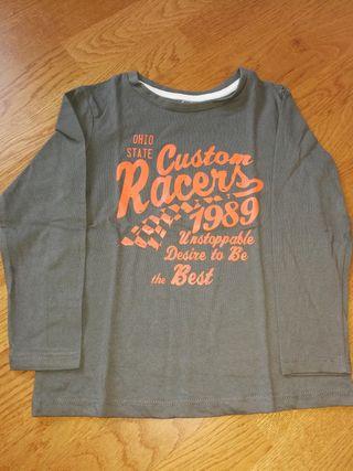 camiseta de manga larga de niño talla 4-5