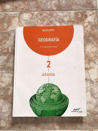 Libro geografía, bachilleraro, ANAYA