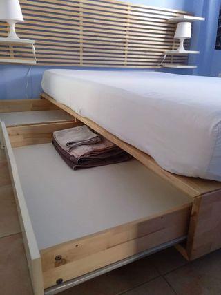 estructura cama y cabecero Mandal IKEA