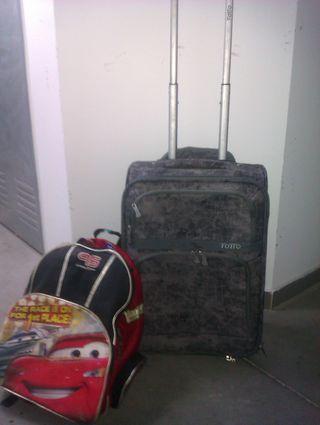 Maleta trolley ruedas cabina TOTTO y mochila CARS