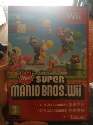 Videojuego Super Mario Bros WII