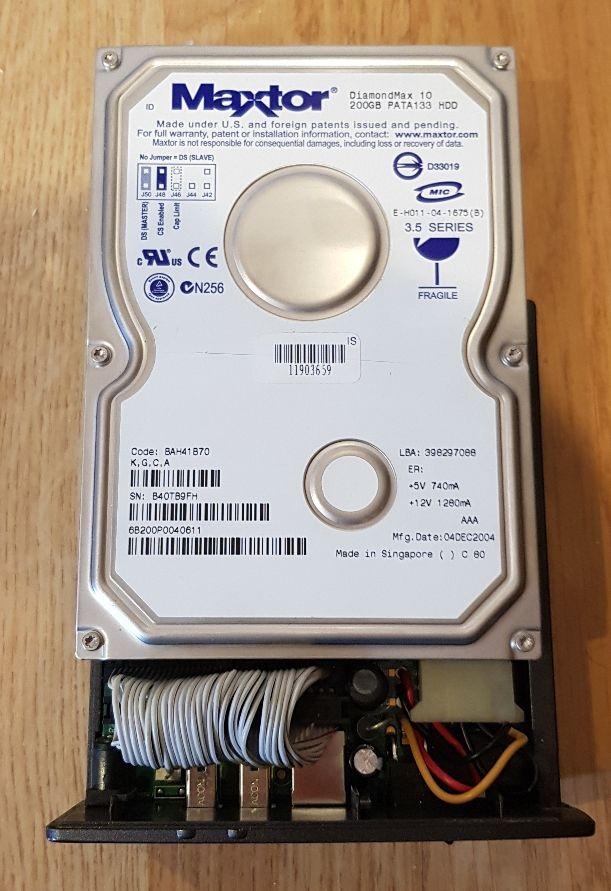 Disco duro externo USB de 200 GB