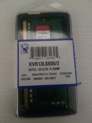 Memoria RAM Kingston SO-DIMM 2GB DDR3L 1,35V