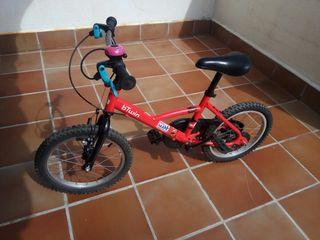 "Bicicleta infantil 16"" (incluye ruedines)"