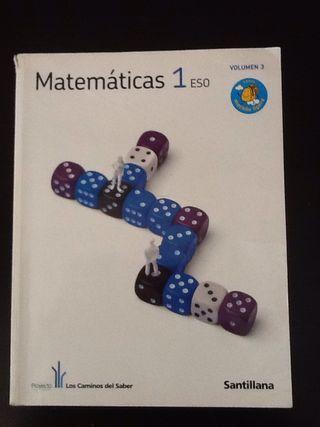 """Libro """"Matematicas 1 eso, vol 3"""""""