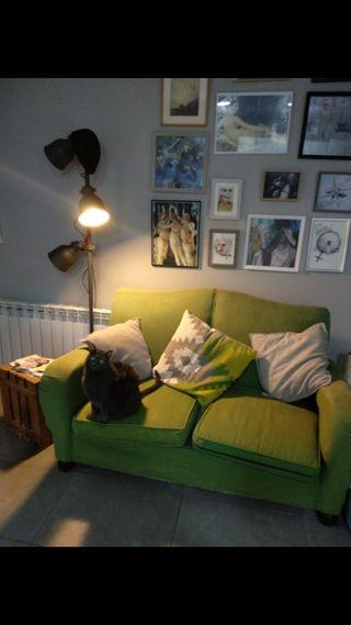 sofa verde vintage