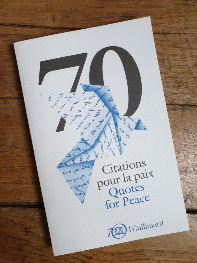 """Livre """"Citations pour la paix"""""""