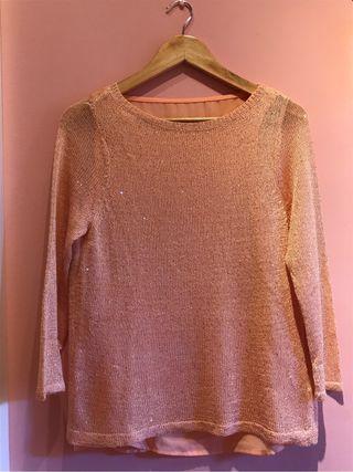 Blusa y suéter de punto 2 en 1
