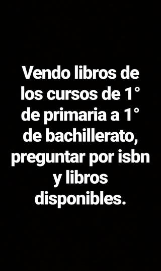 Libros de texto.