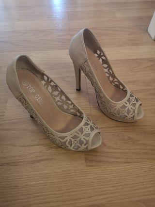zapatos tacon talla 37 boda