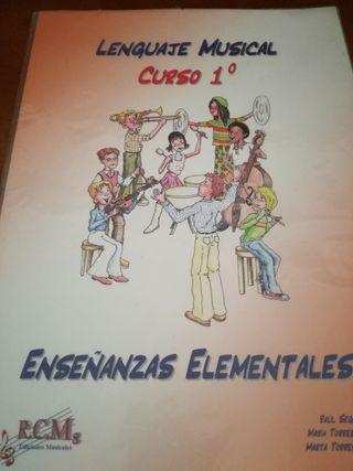 libro música. curso primero, enseñanza elemental