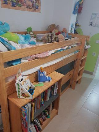 Compacto dormitorio cama infantil/juvenil