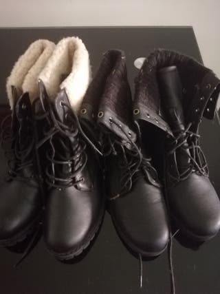 2 pares de botas 10 e