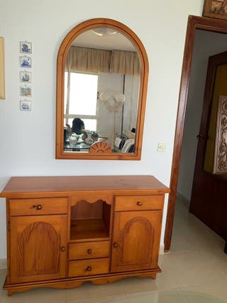Mueble salón con espejo