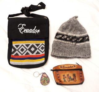 Ecuador lote souvenir artesanal 4 artículos