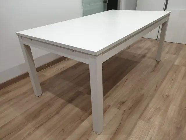 Mesa extensible IKEA BJURSTA blanca de segunda mano por 140 ...