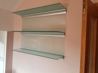 estanterías cristal