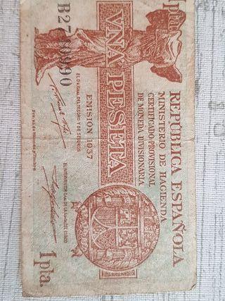 BILLETE de 1 PESETA DE 1937