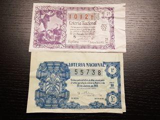 Billetes de Lotería de 1955