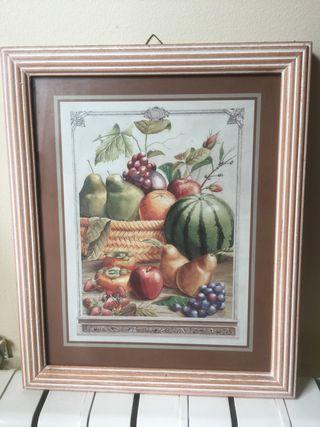 Cuadro bodegón frutas