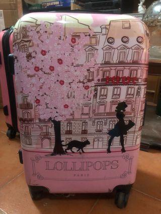 Maleta de cabina rosa Paris by Lollipops