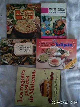6 libros de cocina +1
