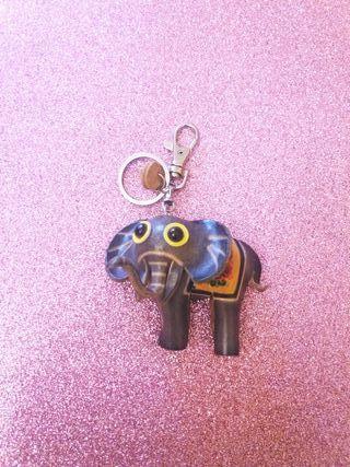Llavero cuero elefantito
