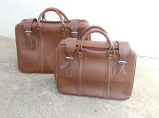 2 maletas de piel vintage