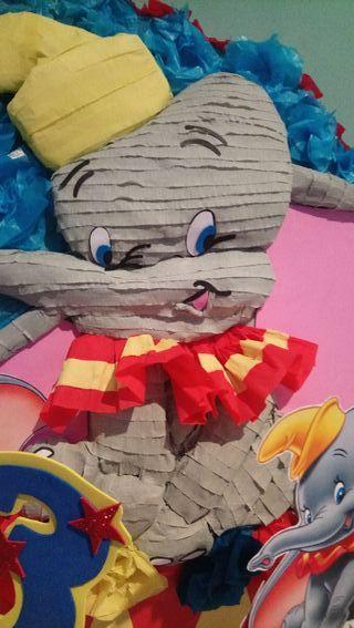 piñata Dumbo centro de mesa Dumbo, circo