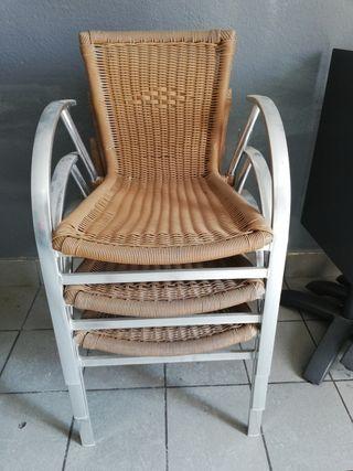 3 sillas exterior
