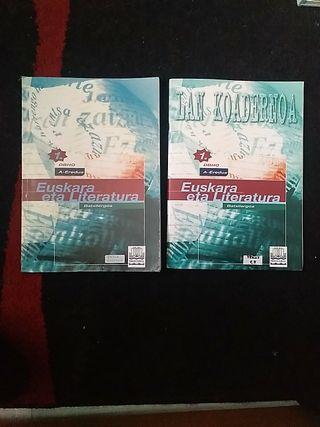 Libro + cuaderno euskera 1 Bachillerato
