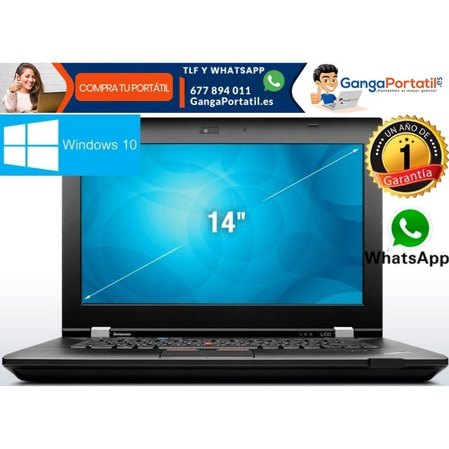 Portátil Lenovo L430, i5 / 8Gb Ram / SSD / Windows