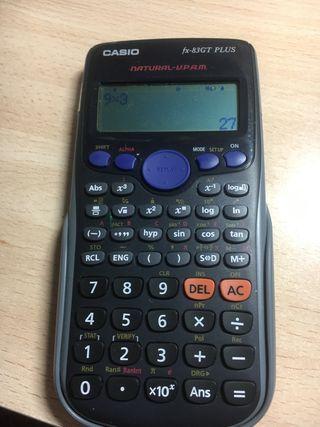 Calculadora casio fx 82 gt plus