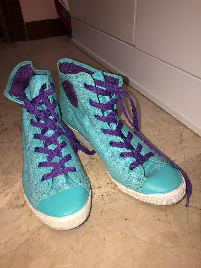 Zapatillas converse con tacón