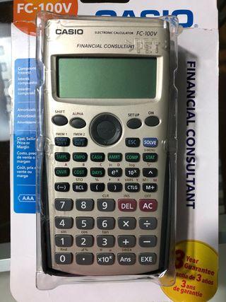 Calculadora financiera Casio FC100(4 ms de uso)