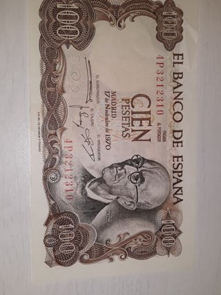 Billete 100 pesetas año 1970