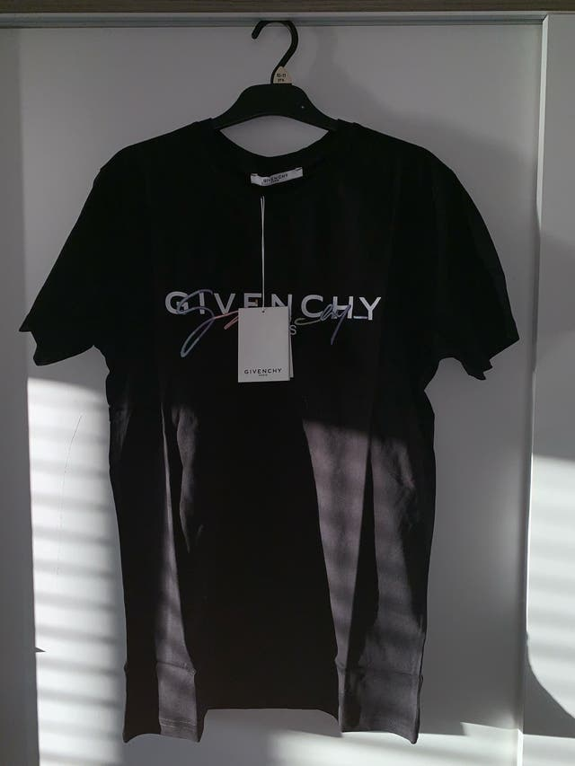 Black Givenchy Paris Tee