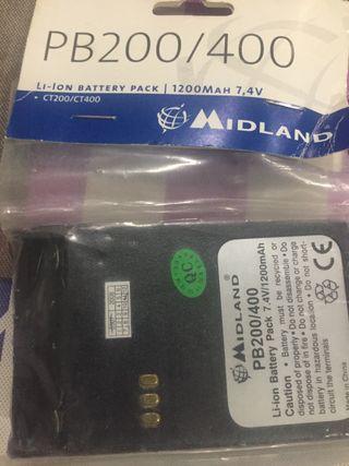 Batería para talkie midland ct200/400