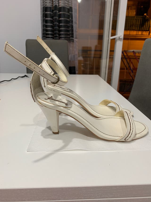 Sandalia blanco roto/marron