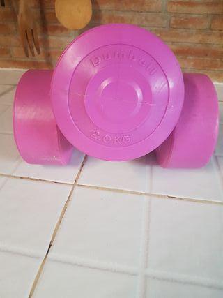 mancuernas pesas 2 kg