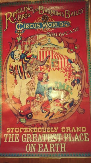 Póster antiguo del circo Ringling