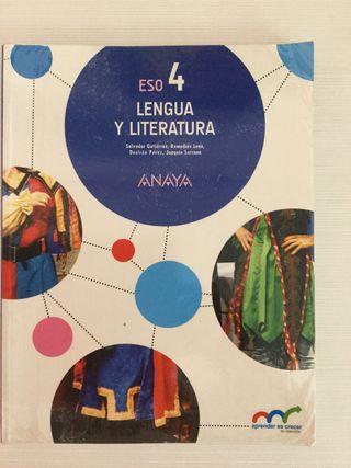 Libro 4º ESO LENGUA Y LITERATURA