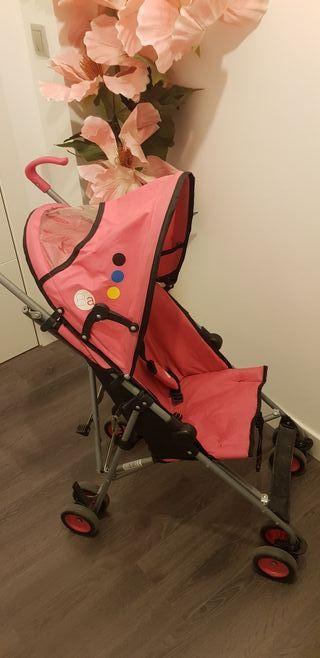 Silla de paseo de paraguas rosa