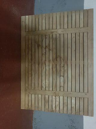 mesa de teka de jardín
