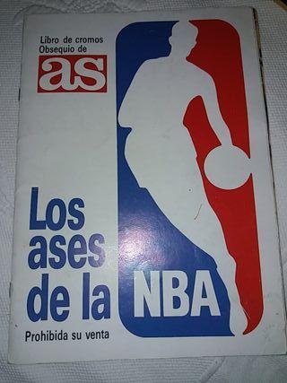 Álbum de cromos los ases de la NBA