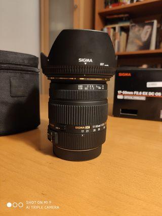 Objetivo Sigma 17-50 f2.8 montura Canon