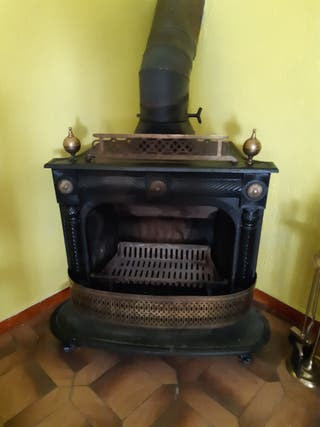 Chimenea estufa hierro fundido Hergom