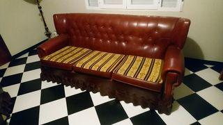 Sofá retro vintage de skay 192 cm largo